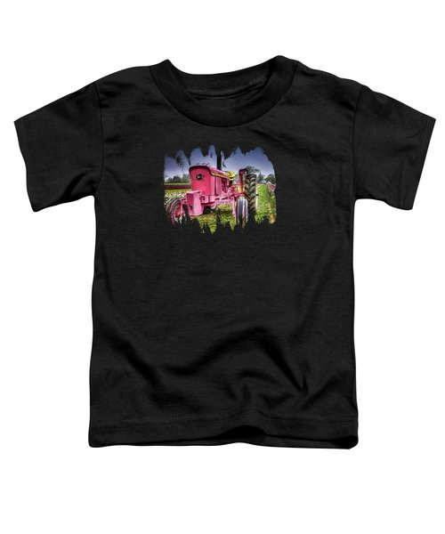 The Pink Tractor At The Wooden Shoe Tulip Farm Toddler T-Shirt by Thom Zehrfeld