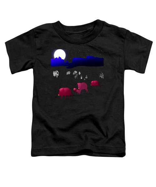 They Walk By Night Toddler T-Shirt by Methune Hively