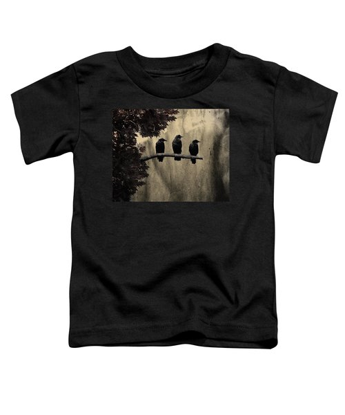 Three Ravens Toddler T-Shirt by Gothicolors Donna
