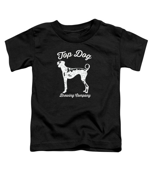 Top Dog Brewing Company Tee White Ink Toddler T-Shirt by Edward Fielding