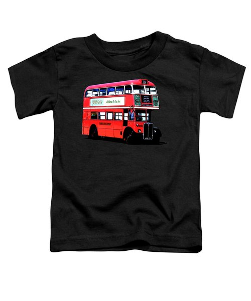 Vintage London Bus Tee Toddler T-Shirt by Edward Fielding