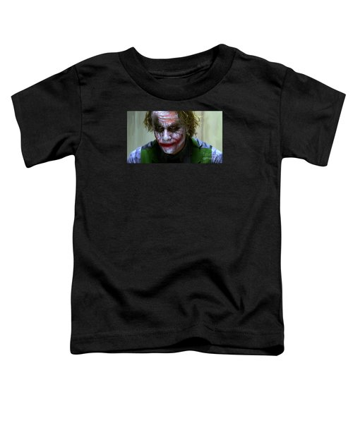 Why So Serious Toddler T-Shirt by Paul Tagliamonte
