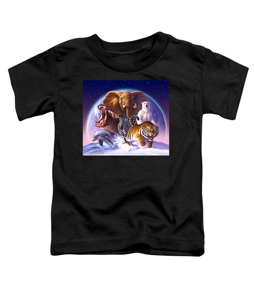 Wild World Toddler T-Shirt by Jerry LoFaro