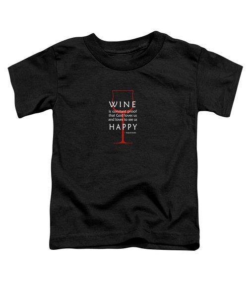 Wine Glasses 2 Toddler T-Shirt by Mark Rogan