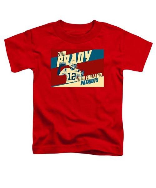 Tom Brady Toddler T-Shirt by Taylan Soyturk