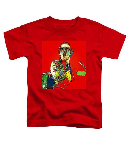 Elton In Red Toddler T-Shirt by John Farr