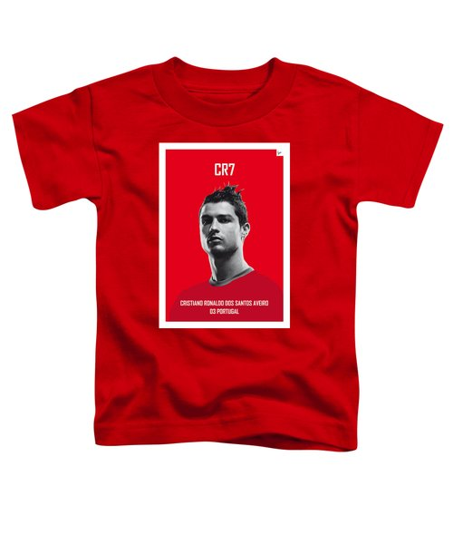 My Ronaldo Soccer Legend Poster Toddler T-Shirt by Chungkong Art