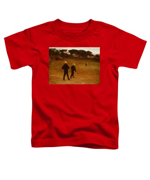 The Ball Players Toddler T-Shirt by William Morris Hunt