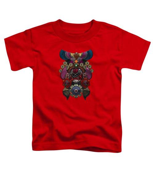 Chinese Masks - Large Masks Series - The Demon Toddler T-Shirt by Serge Averbukh