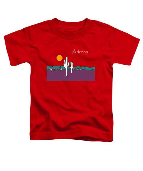 Desert Sunset Toddler T-Shirt by Methune Hively