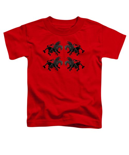 Dragon Cutout Toddler T-Shirt by Vladi Alon