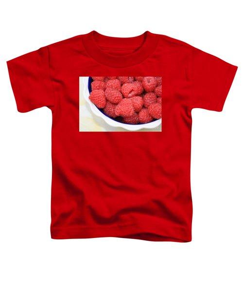 Raspberries In Polish Pottery Bowl Toddler T-Shirt by Carol Groenen