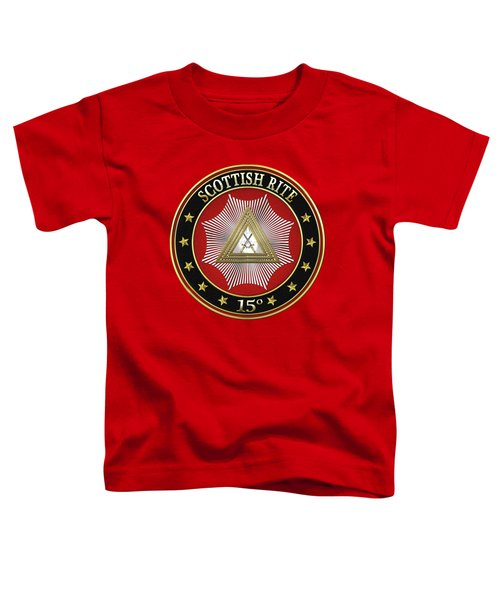 15th Degree - Knight Of The East Jewel On Red Leather Toddler T-Shirt by Serge Averbukh