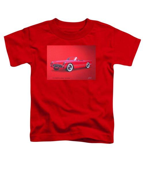 1953 Corvette Classic Vintage Sports Car Automotive Art Toddler T-Shirt by John Samsen