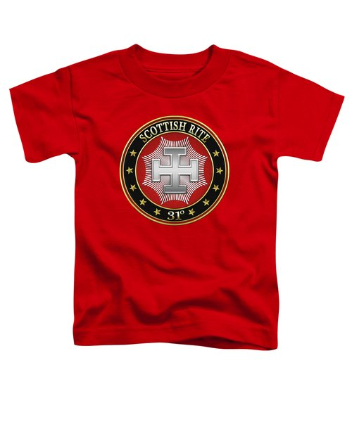 31st Degree - Inspector Inquisitor Jewel On Red Leather Toddler T-Shirt by Serge Averbukh
