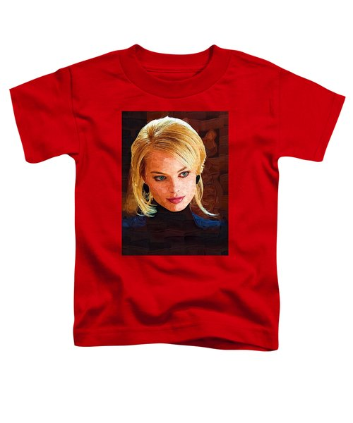 Margot Robbie Painting Toddler T-Shirt by Best Actors