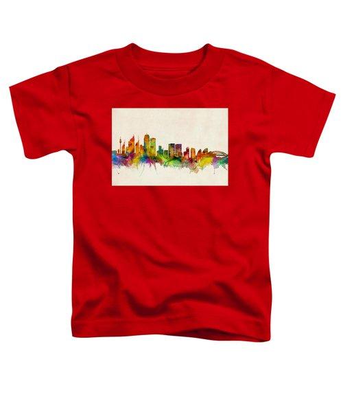 Sydney Australia Skyline Toddler T-Shirt by Michael Tompsett