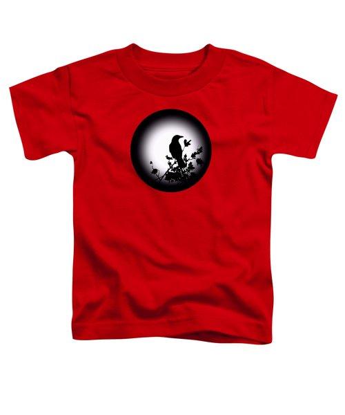 Blackbird In Silhouette  Toddler T-Shirt by David Dehner
