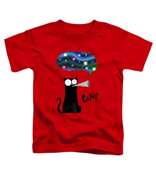 Catnip  Toddler T-Shirt by Andrew Hitchen