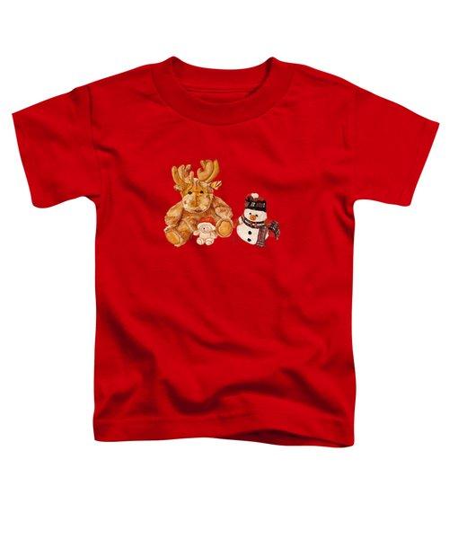 Christmas Buddies Toddler T-Shirt by Angeles M Pomata