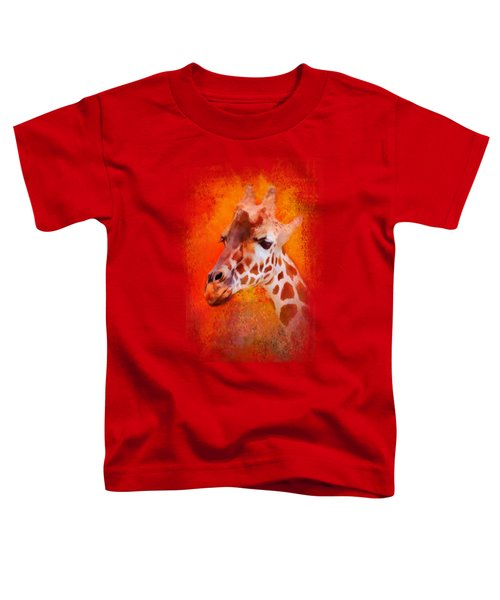 Colorful Expressions Giraffe Toddler T-Shirt by Jai Johnson