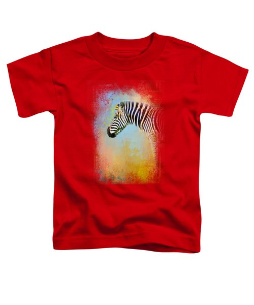 Colorful Expressions Zebra Toddler T-Shirt by Jai Johnson