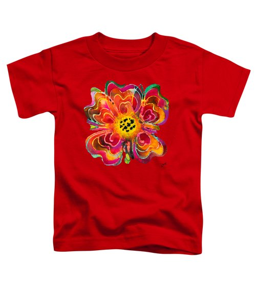 Colorful Flower Art - Summer Love By Sharon Cummings Toddler T-Shirt by Sharon Cummings