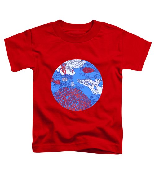 Coral Reef Toddler T-Shirt by Evgenia Chuvardina