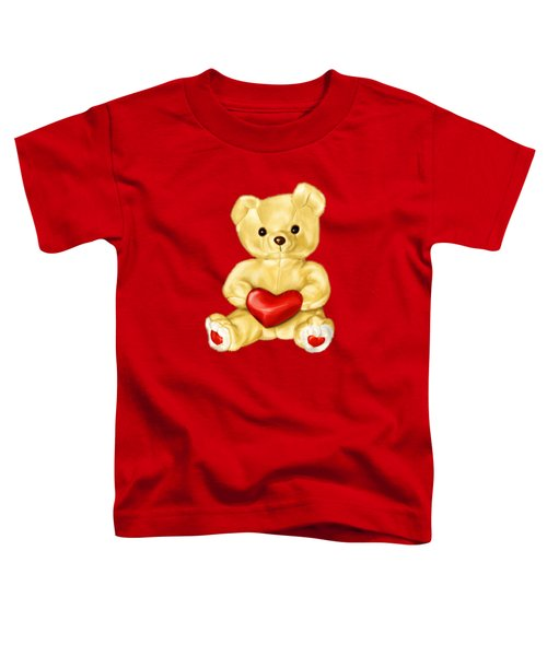 Cute Teddy Bear Hypnotist Toddler T-Shirt by Boriana Giormova