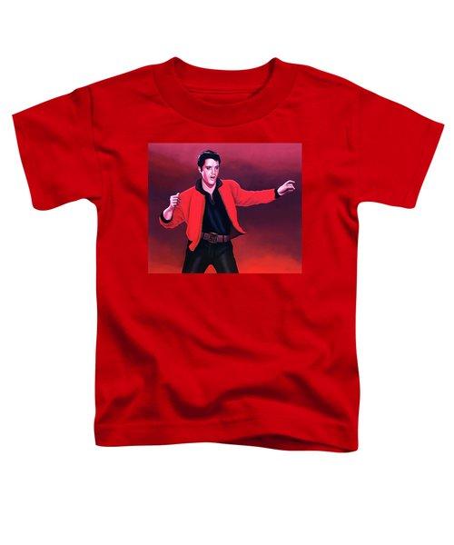Elvis Presley 4 Painting Toddler T-Shirt by Paul Meijering