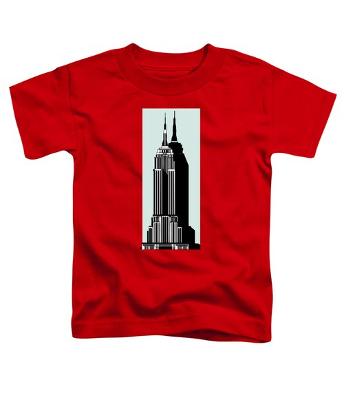 Empire State Building Deco Minimal Toddler T-Shirt by Cecely Bloom