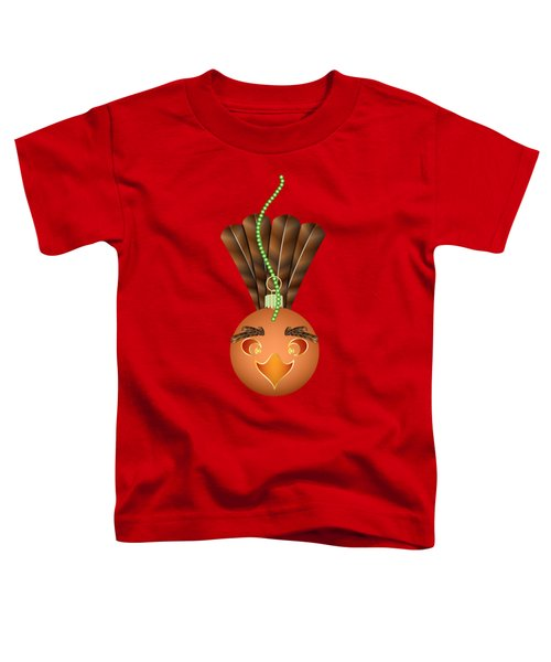 Hallowgivingmas Turkey Ornament Holiday Humor Toddler T-Shirt by MM Anderson