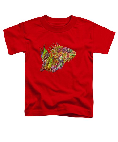 Iguana Hot Toddler T-Shirt by Carol Cavalaris