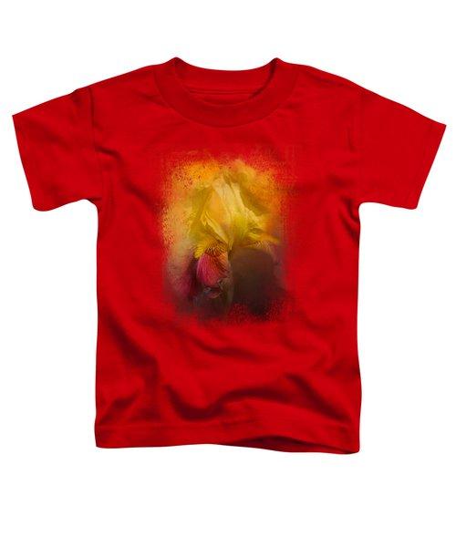 Iris In Miss June's Garden Toddler T-Shirt by Jai Johnson