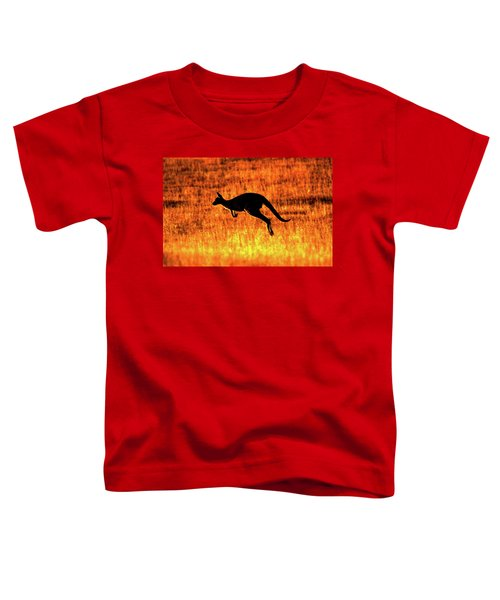 Kangaroo Sunset Toddler T-Shirt by Bruce J Robinson