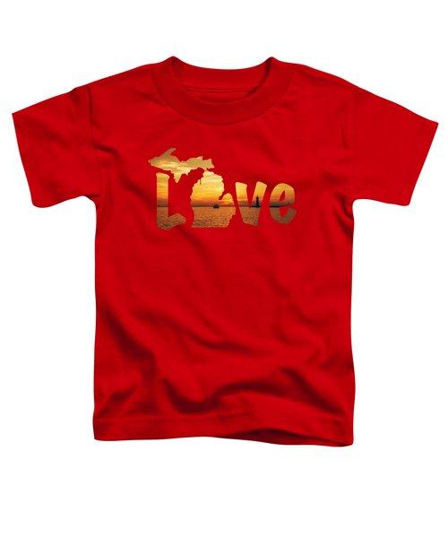 Love Lake Michigan Toddler T-Shirt by Emily Kay
