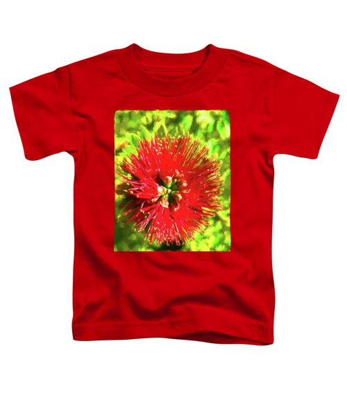 My Surreal Christmas Flower Toddler T-Shirt by Jackie VanO