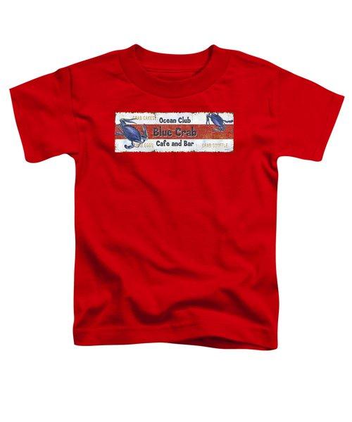 Ocean Club Cafe Toddler T-Shirt by Debbie DeWitt