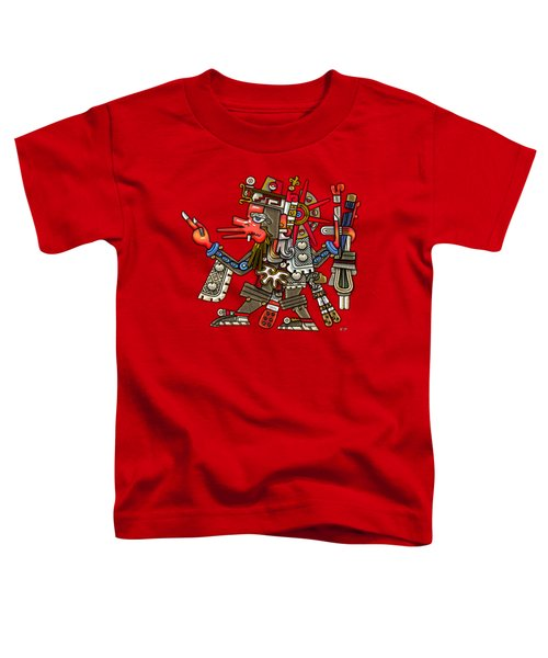 Quetzalcoatl In Human Warrior Form - Codex Borgia Toddler T-Shirt by Serge Averbukh
