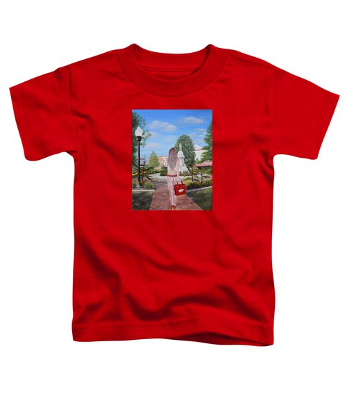 Razorback Swagger At Bentonville Square Toddler T-Shirt by Belinda Nagy