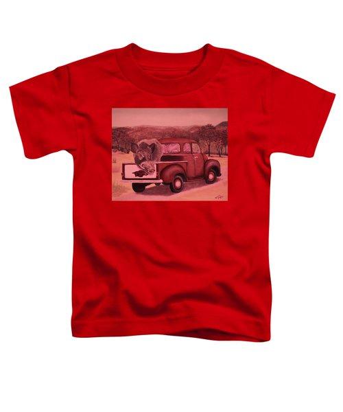 Ridin' With Razorbacks 3 Toddler T-Shirt by Belinda Nagy
