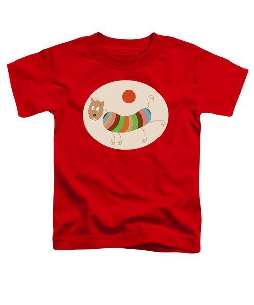 Sausage Dog In Ketchup Sunset Toddler T-Shirt by Frank Tschakert