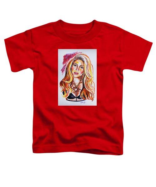 Shakira Toddler T-Shirt by Viktoriya Lavtsevich