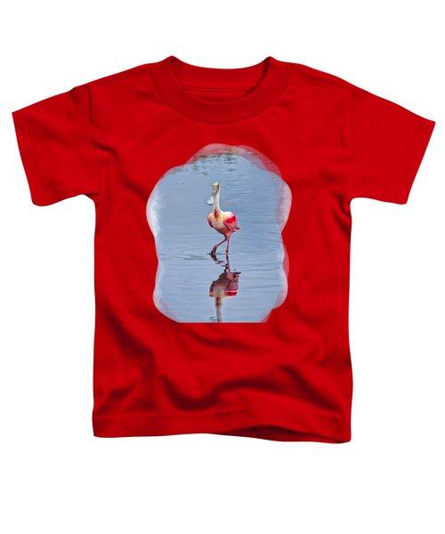 Spoonbill 2 Toddler T-Shirt by John M Bailey
