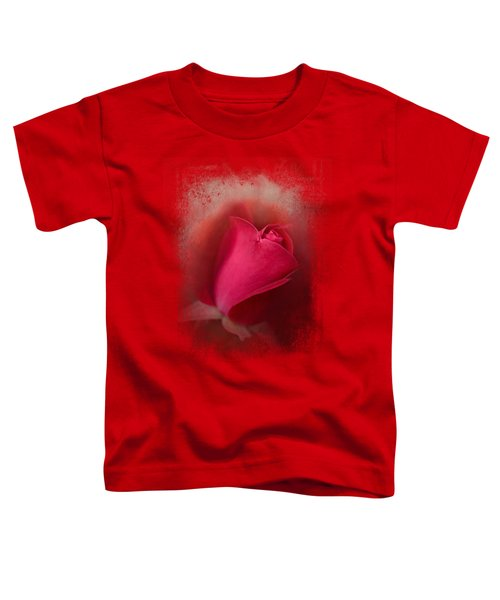 The First Red Rose Toddler T-Shirt by Jai Johnson