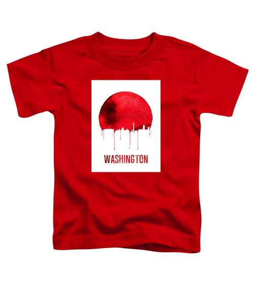 Washington Skyline Red Toddler T-Shirt by Naxart Studio