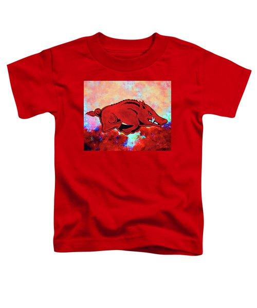 Woo Pig Sooie 3 Toddler T-Shirt by Belinda Nagy