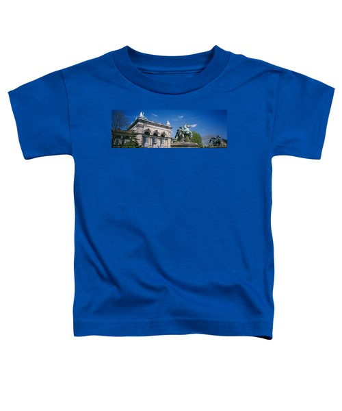 Low Angle View Of A Statue In Front Toddler T-Shirt by Panoramic Images