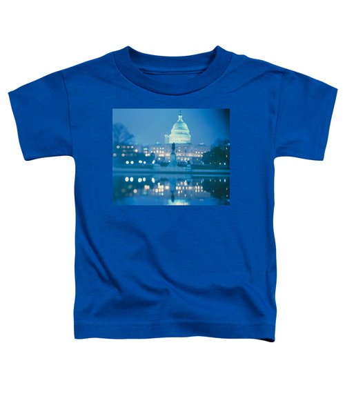 Government Building Lit Up At Night Toddler T-Shirt by Panoramic Images
