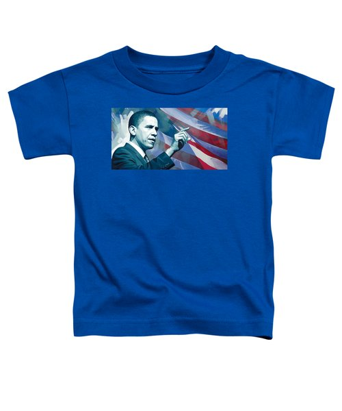 Barack Obama Artwork 2 Toddler T-Shirt by Sheraz A